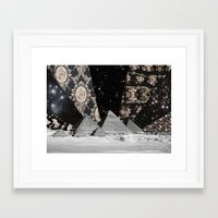 egypt Framed Art Prints featuring Egypt by Mrs Araneae