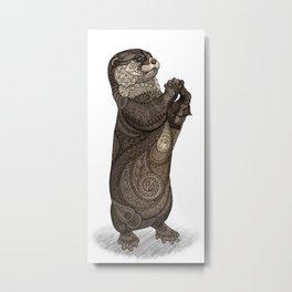 Infatuated Otter Metal Print