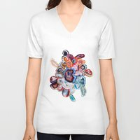 agate V-neck T-shirts featuring Earth's Loveliness, Agate Collection by Elena Kulikova