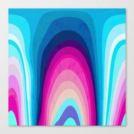 Woodwork Rainbow Tree Canvas Print