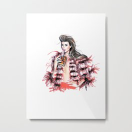 Don't be shy To show you're Wild Metal Print