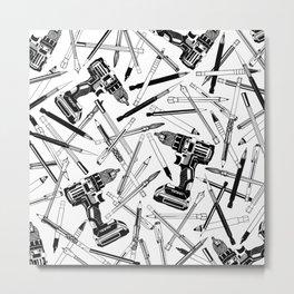 Art Bits Drill Set Metal Print