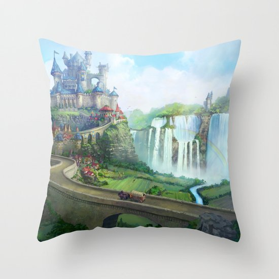 epic fantasy castle  Throw Pillow