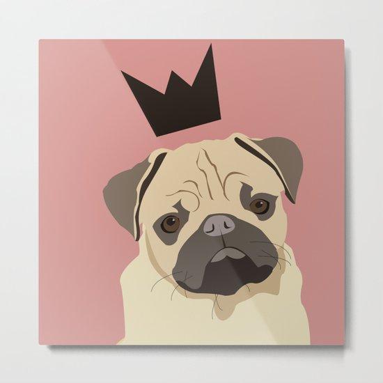 Royal pug Metal Print