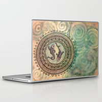 pisces Laptop & iPad Skins featuring Pisces by Jen Hallbrown