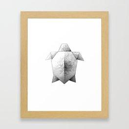 Turtle Origami Framed Art Print