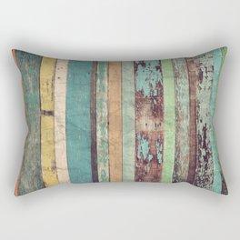 Wooden Vintage  Rectangular Pillow