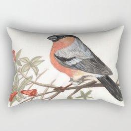 Eurasian bullfinch bird Rectangular Pillow