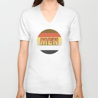 men V-neck T-shirts featuring MEN by HeyBun