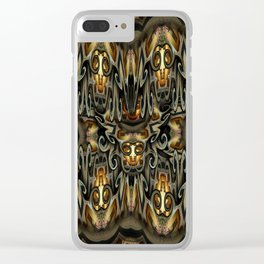 K-108 Abstract Lighting Abstract Clear iPhone Case