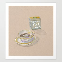 Uncertain Tea Art Print