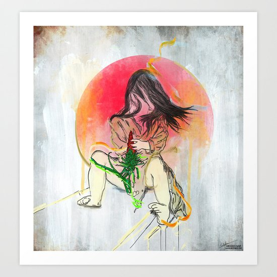 Dissolve Art Print