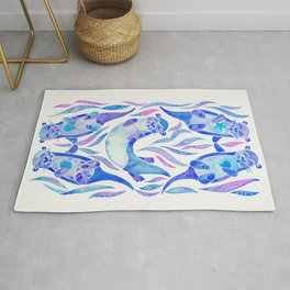Five Otters – Indigo Ombré Rug