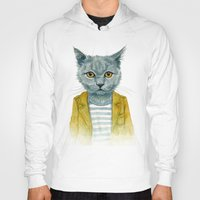 kitty Hoodies featuring Kitty by Leslie Evans