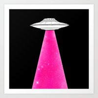 ufo Art Prints featuring UFO by Beyond Infinite