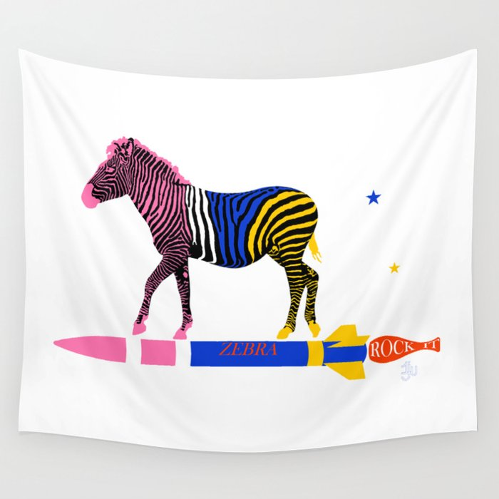 Zebra Rock It 16A Wall Tapestry