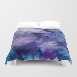 Abstract Watercolor Coastal, Indigo, Blue, Purple Duvet Cover