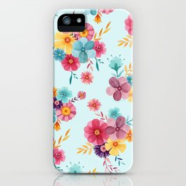 Fresh // Spring Floral Repeat Pattern iPhone Case