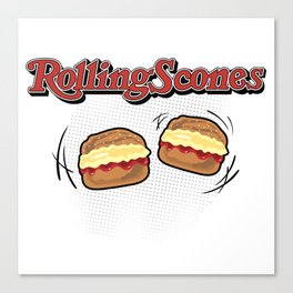The Rolling Scones: scones and stones! Canvas Print