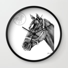 Affirmed (US) Thoroughbred Stallion Wall Clock