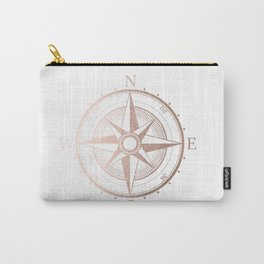 Rose Gold Compass Carry-All Pouch