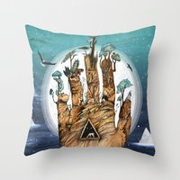 stargate Throw Pillows featuring Stargate by Sandra Dieckmann