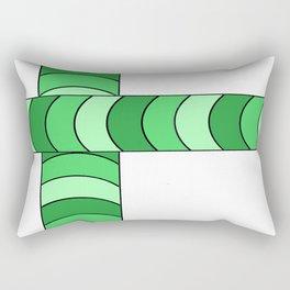 Blunt, in green Rectangular Pillow