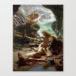The Cave of the Storm Nymphs, fine art print, art nudes Canvas Print