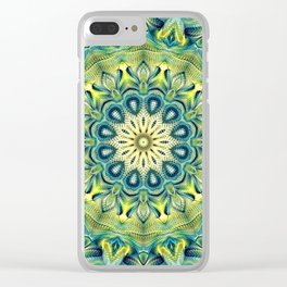Flower Of Life Mandala (Spring Love) Clear iPhone Case