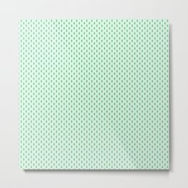 Badger Forest Friends All Over Repeat Pattern on Mint Green Metal Print