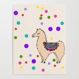 Party Llama Poster