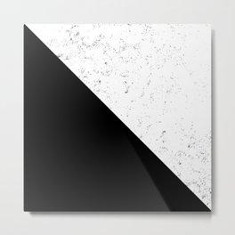 Black Speckle Metal Print