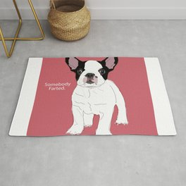 Somebody farted - Frenchie dog (pink) Rug
