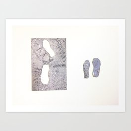Sidewalk Fragments 2 Art Print