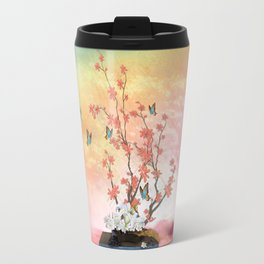 Ikebana Art Travel Mug