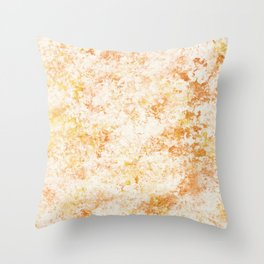 Copper & gold sponge painting Throw Pillow