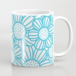 Field of daisies - teal Coffee Mug