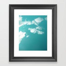 Teal kissed sky. Framed Art Print