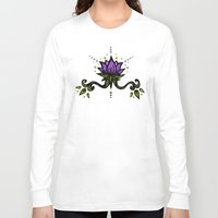 lotus flower Long Sleeve T-shirts featuring Lotus by SkinnyGinny