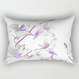 Branches with White Orchids Rectangular Pillow