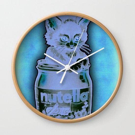 Kitten Loves Nutella Wall Clock