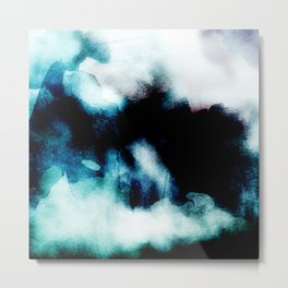 UNBORN - Stylish cobalt watercolor mixture Metal Print