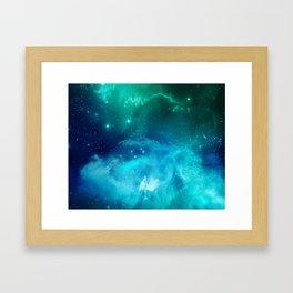 Blue Galactic Portal Framed Art Print