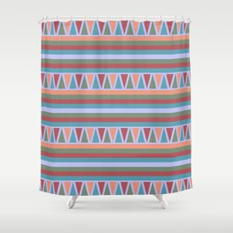 Stripes and Triangles African Pattern Shower Curtain