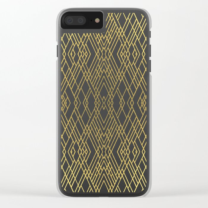 Art Deco Gold Clear iPhone Case