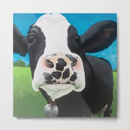 Flossie the Freckled Cow Metal Print