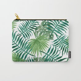 Tropical Palm Leaves Carry-All Pouch