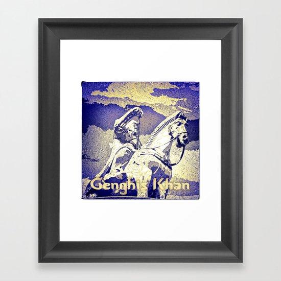 Spirit of the Great Gobi Desert - Genghis Khan Framed Art Print