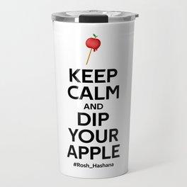 Keep Calm and Dip your apple  - Rosh Hashana Special Travel Mug