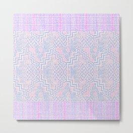 Zigity Zagaty Stripes Metal Print
